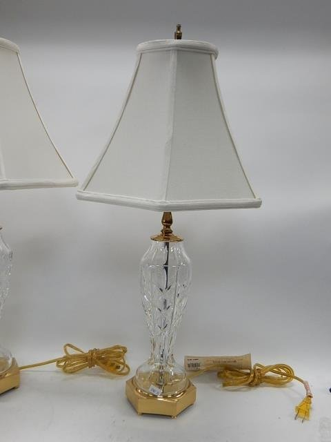 PAIR OF WATERFORD TABLE LAMPS - 3