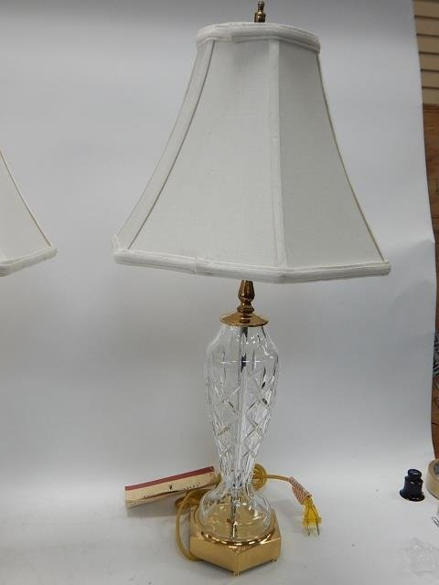PAIR OF WATERFORD TABLE LAMPS - 5