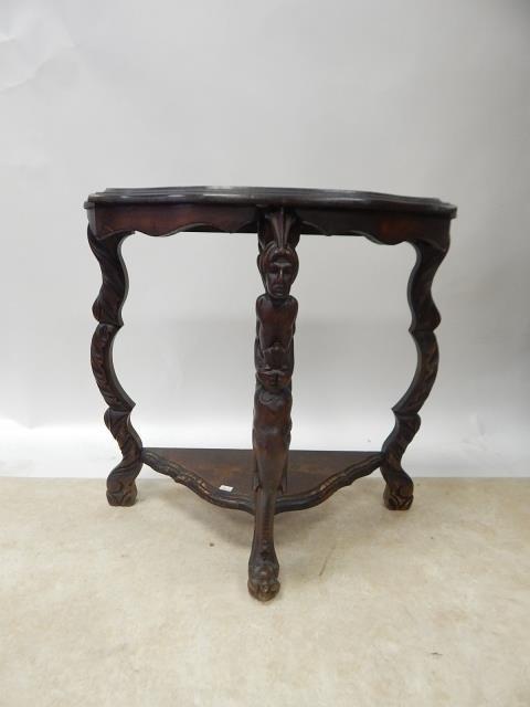 MAHOGANY CARVED TABLE