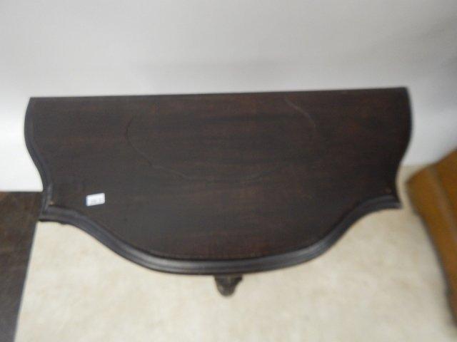 MAHOGANY CARVED TABLE - 4