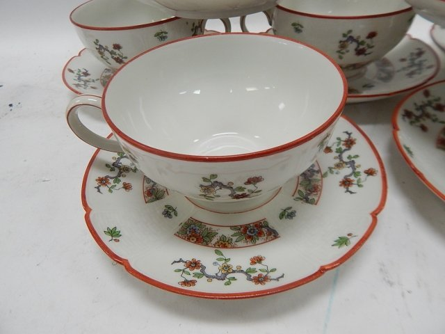 SET OF 10 LIMOGES TEA CUP & SAUCERS - 2