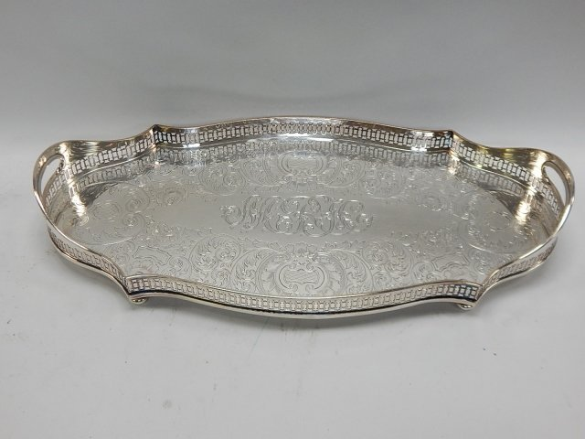 LARGE SILVER PLATE TRAY - 2