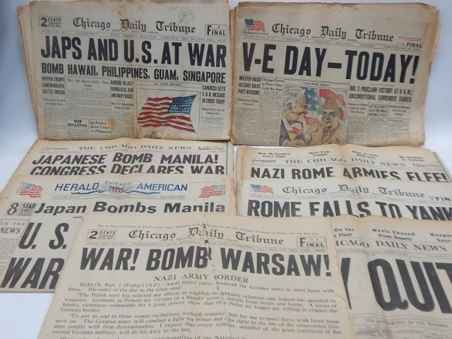 COLLECTION OF WWII NEWSPAPERS