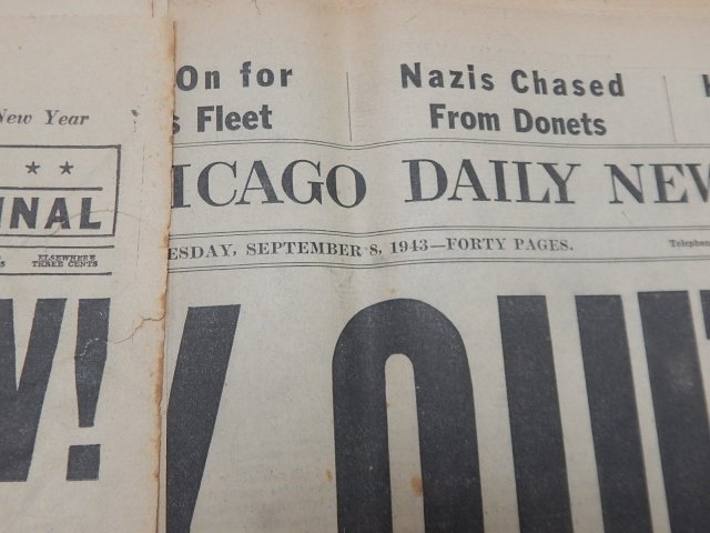 COLLECTION OF WWII NEWSPAPERS - 4