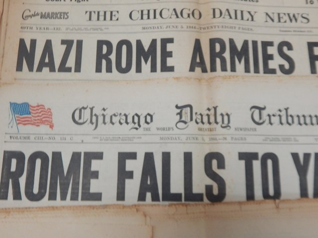 COLLECTION OF WWII NEWSPAPERS - 5