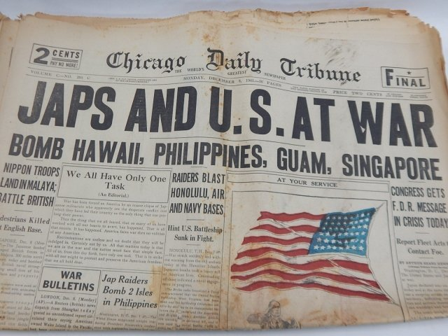 COLLECTION OF WWII NEWSPAPERS - 6
