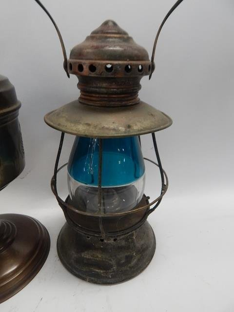 TWO LANTERNS AND OIL LAMP - 2