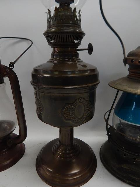 TWO LANTERNS AND OIL LAMP - 3