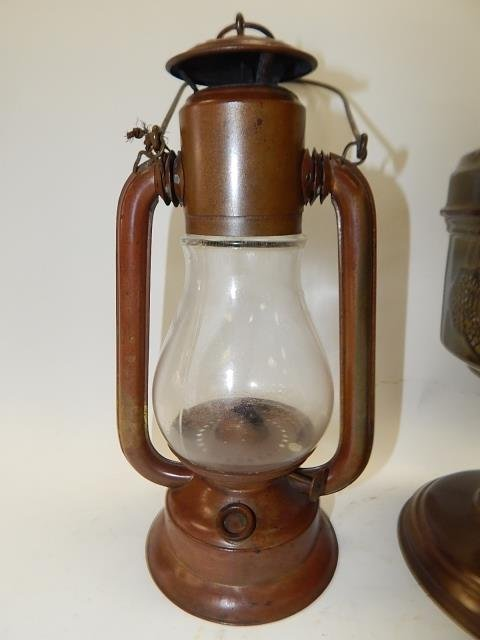 TWO LANTERNS AND OIL LAMP - 4