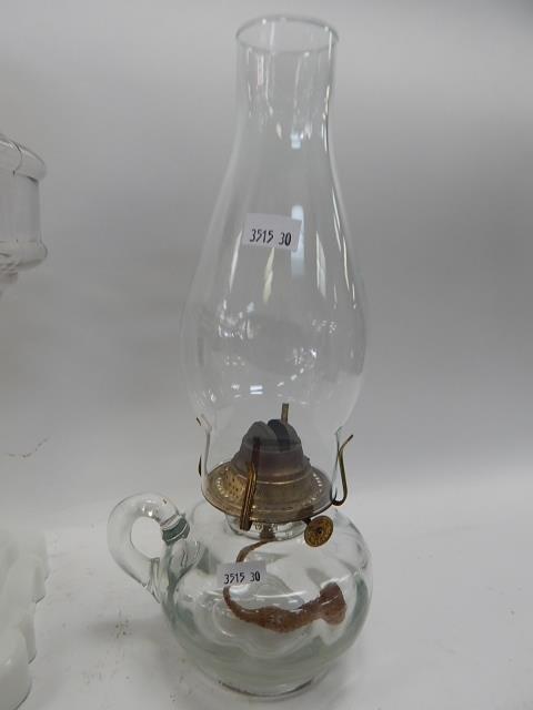 THREE OIL LAMPS - 2