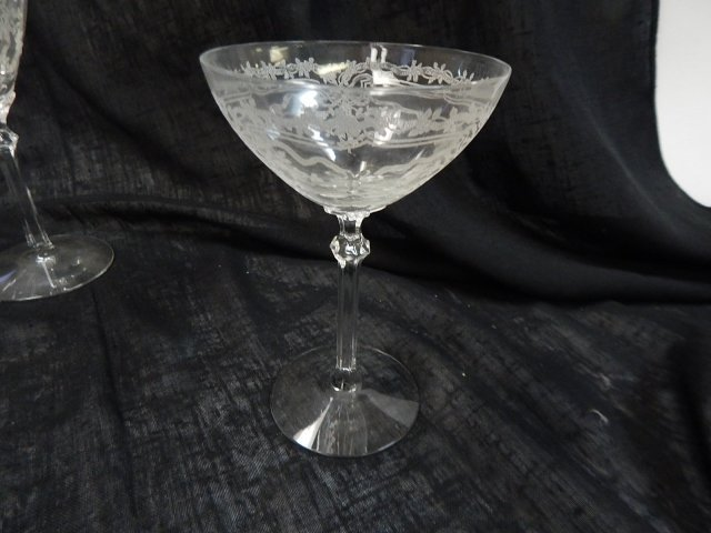 CAMBRIDGE ETCHED GLASS STEMWARE - 2
