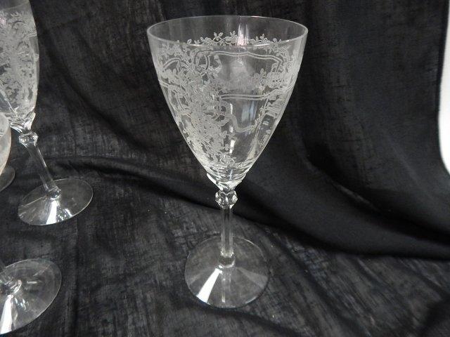 CAMBRIDGE ETCHED GLASS STEMWARE - 3