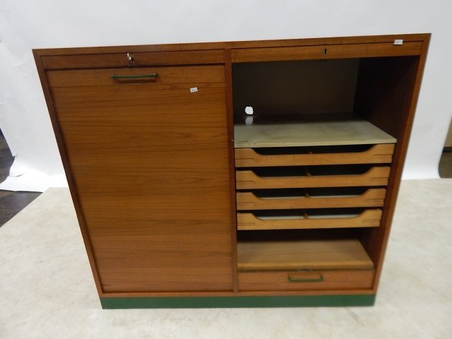 TWO ROLL FRONT CABINETS - 2