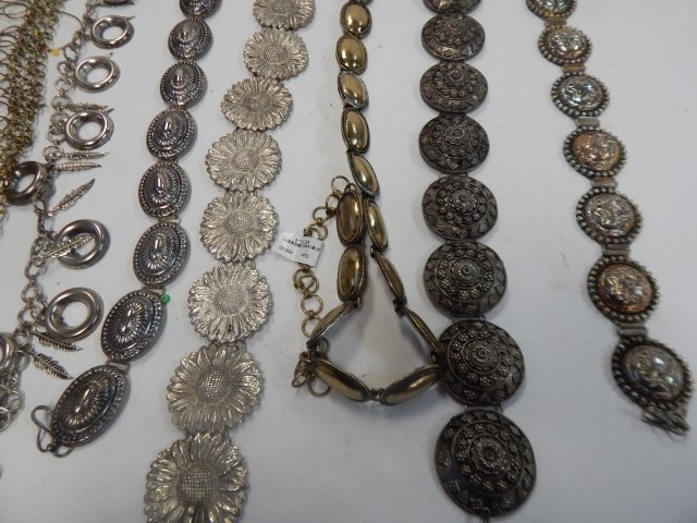 LOT OF BELTS AND NECKLACES - 2