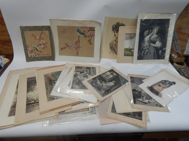 BIG LOT OF PRINTS, DRAWINGS, AND ETCHINGS