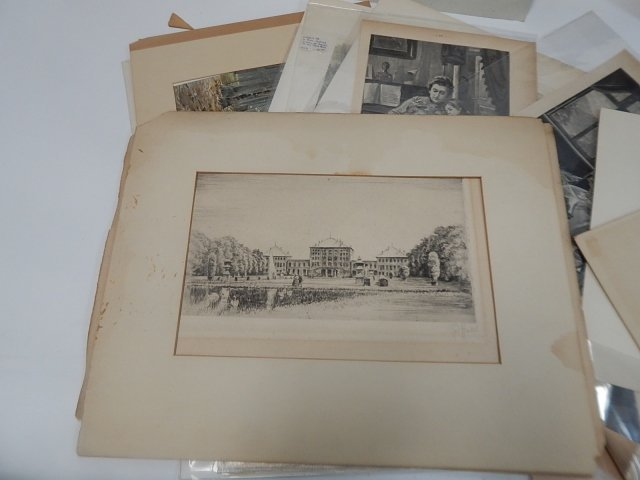 BIG LOT OF PRINTS, DRAWINGS, AND ETCHINGS - 3