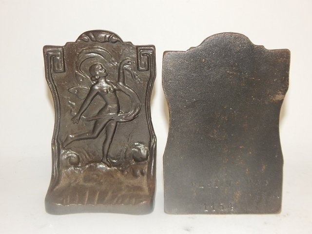 PAIR OF IRON BOOKENDS - 2