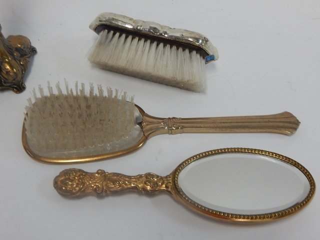 LOT OF BRUSHES, MIRROR, DESK ORGANIZER - 2