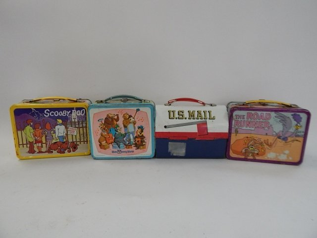 FOUR TIN LUNCH BOXES - 2
