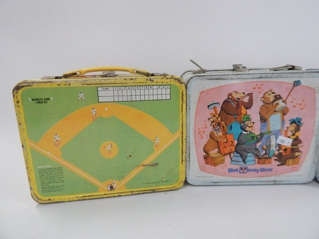FOUR TIN LUNCH BOXES - 5