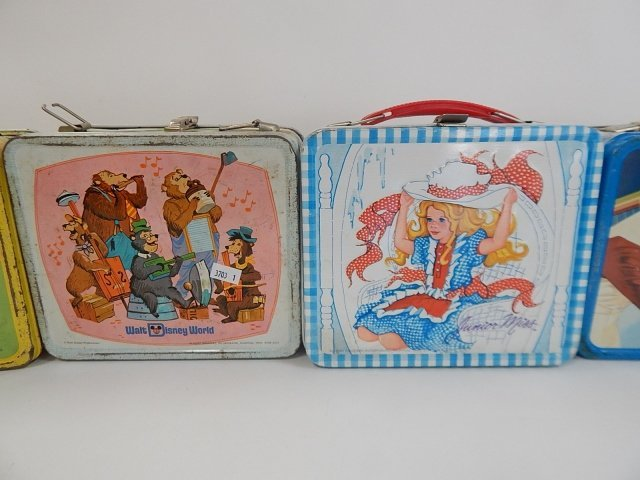 FOUR TIN LUNCH BOXES - 6