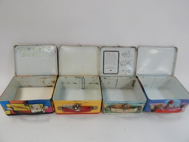 FOUR TIN LUNCH BOXES - 3
