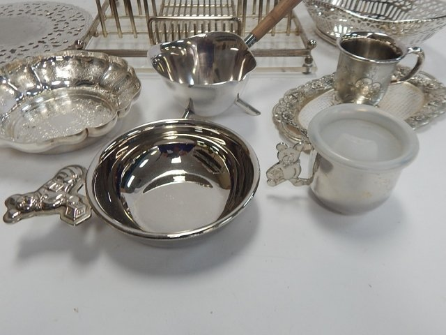 LARGE COLLECTION OF SILVER PLATE - 4