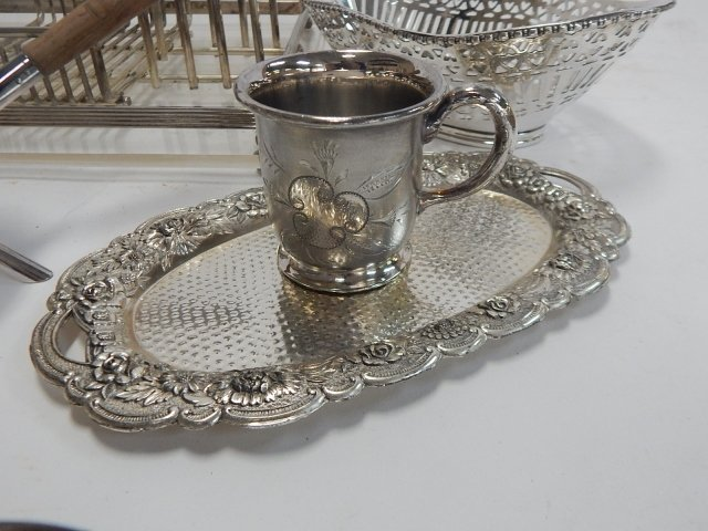 LARGE COLLECTION OF SILVER PLATE - 6
