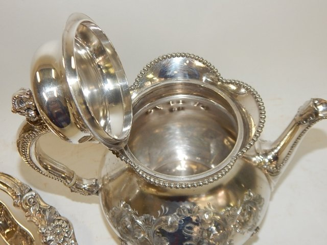 SILVER PLATE TEA SET - 2