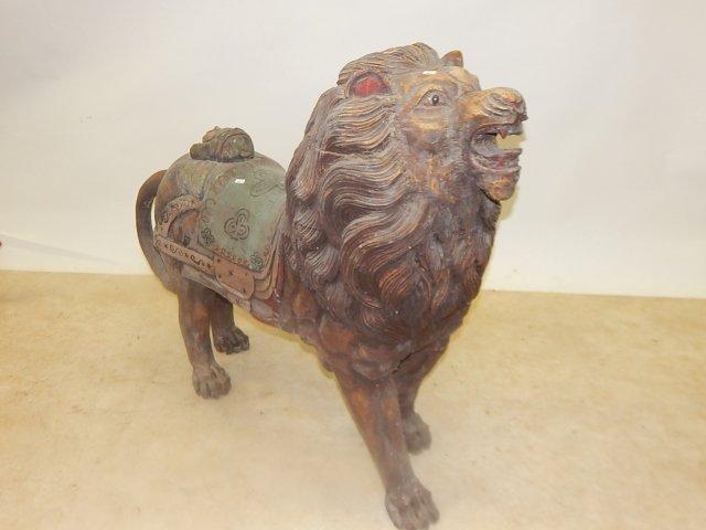 WOOD CARVED LION