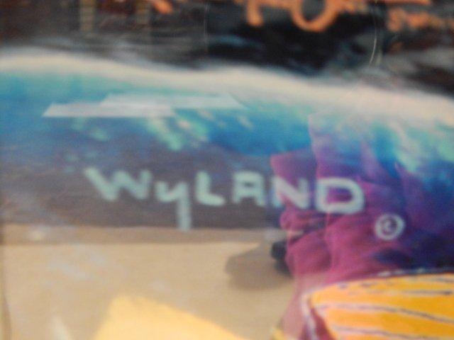 "WYLAND ""OCEAN TRILOGY""  LITHOGRAPH KOA WOOD - 2"