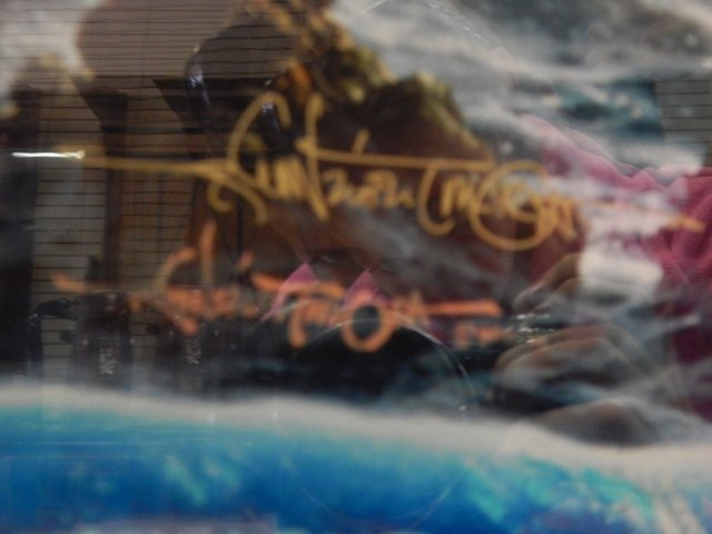 "WYLAND ""OCEAN TRILOGY""  LITHOGRAPH KOA WOOD - 3"