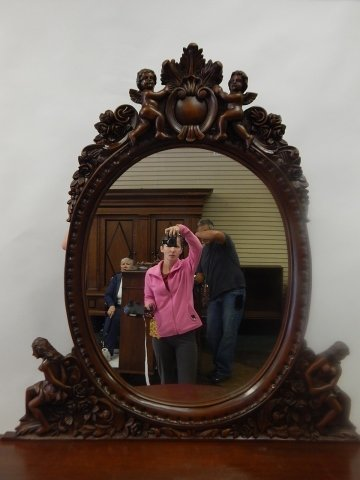 HEAVILY CARVED CONSOLE WITH MIRROR - 2