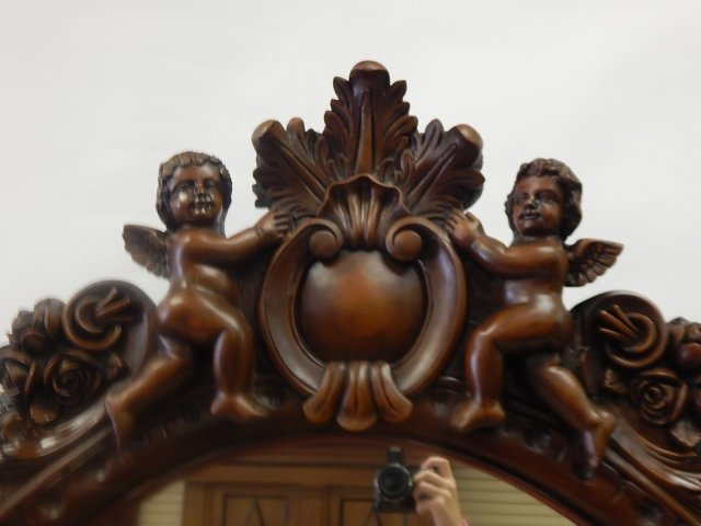 HEAVILY CARVED CONSOLE WITH MIRROR - 3