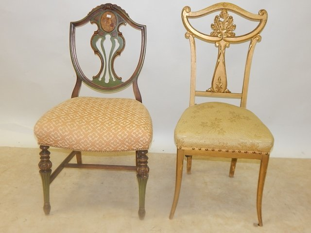 TWO FRENCH CARVED CHAIRS