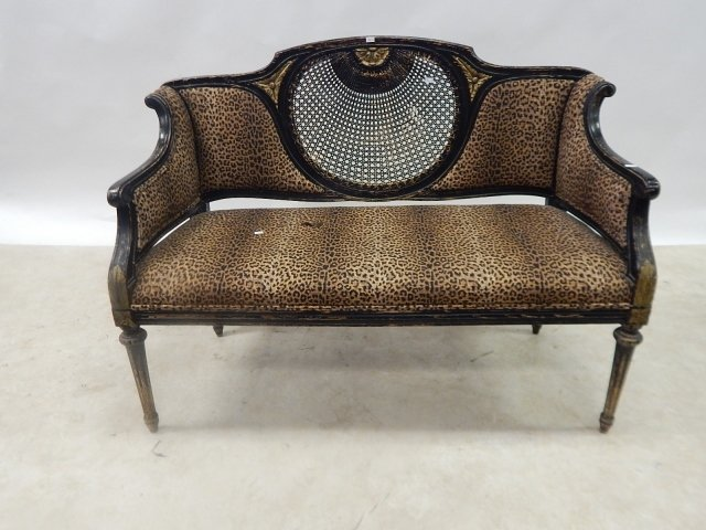 CANE BACK LOVE SEAT