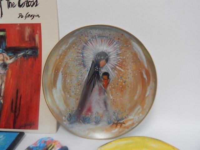 LARGE LOT OF DE GRAZIA PAINTED BLOCKS AND DISHES - 2