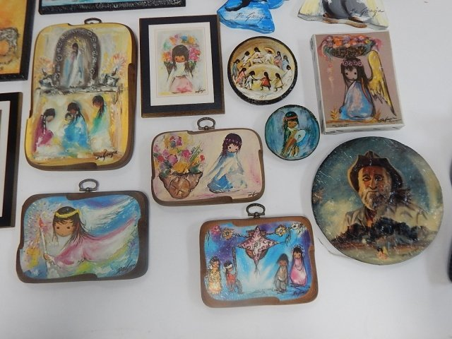 LARGE LOT OF DE GRAZIA PAINTED BLOCKS AND DISHES - 4
