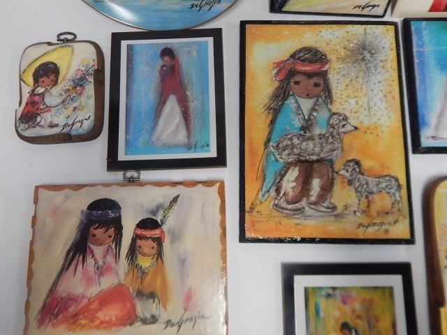 LARGE LOT OF DE GRAZIA PAINTED BLOCKS AND DISHES - 6