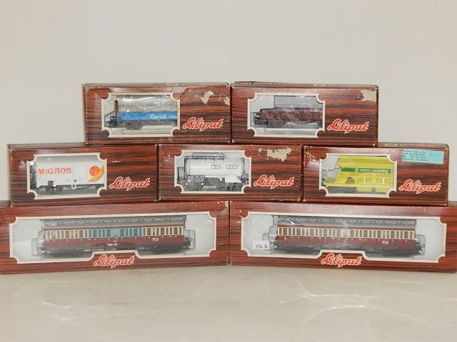 7 LILIPUT HO SCALE TRAIN CARS