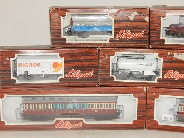 7 LILIPUT HO SCALE TRAIN CARS - 2