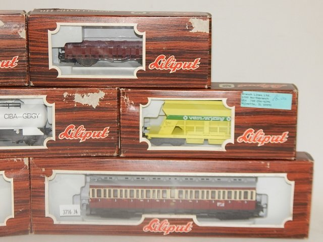 7 LILIPUT HO SCALE TRAIN CARS - 3