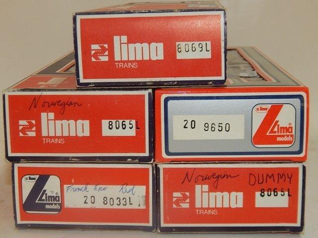 5 LIMA HO TRAIN CARS - 4