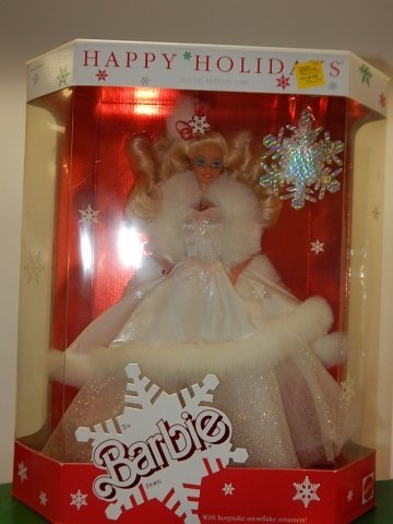 6 HOLIDAY BARBIES - 2