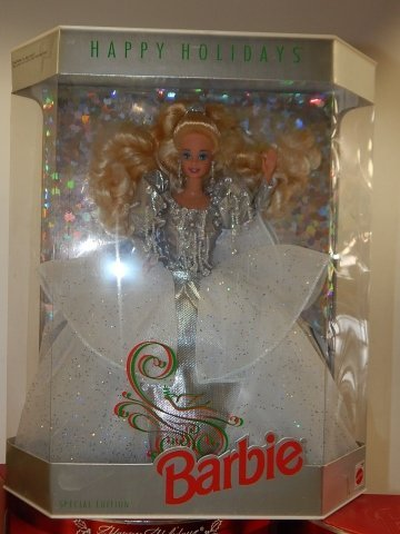 6 HOLIDAY BARBIES - 3