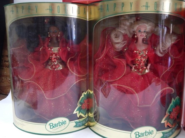 6 HOLIDAY BARBIES - 5