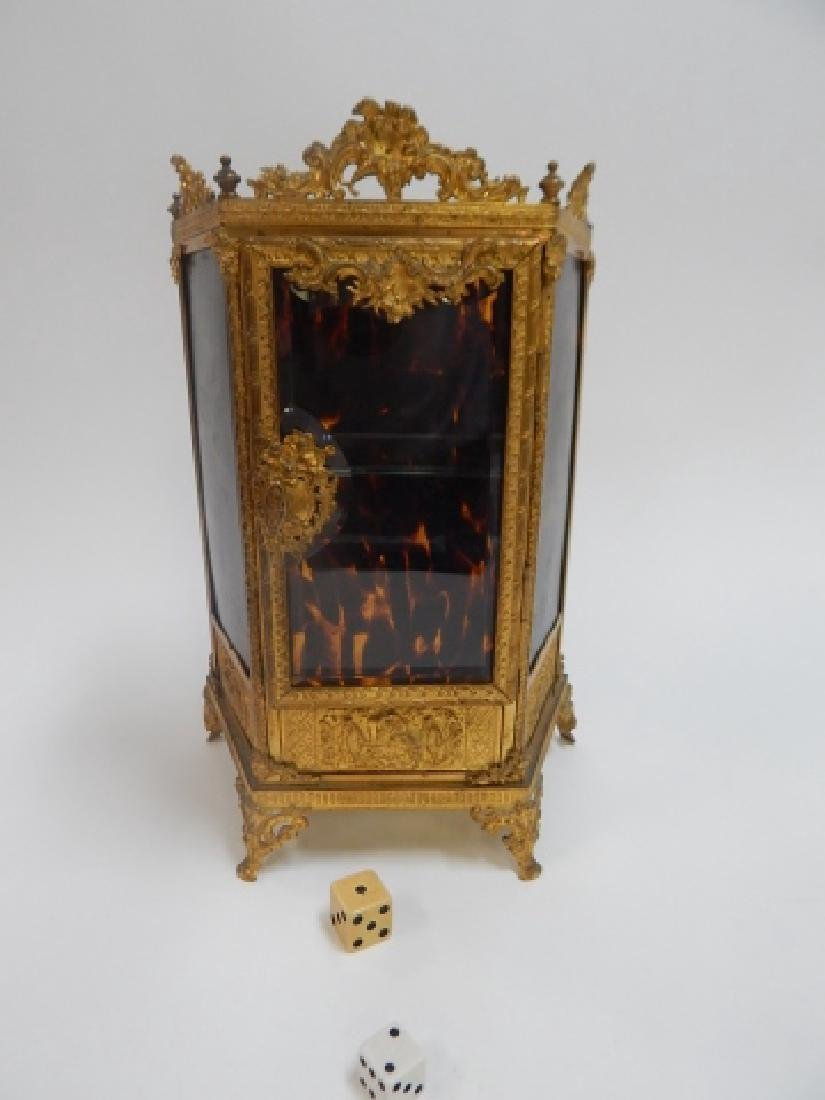 FRENCH BRONZE CURIO CABINET