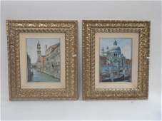 PAIR OF CONTEMPORARY FRAMED OIL ON BOARD