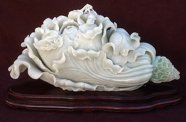 Very Rare Large Nephrite Cabbage