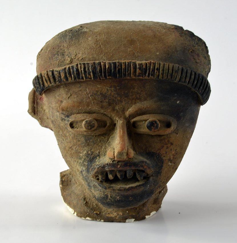 "Pre Columbian head fragment ""Veracruz"""